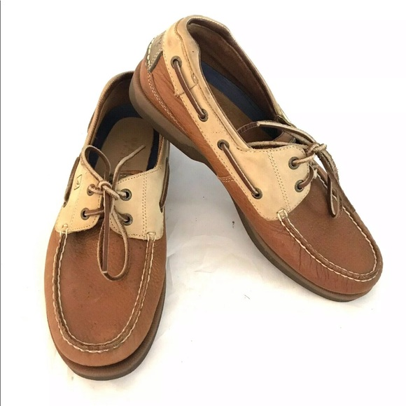 Sperry Other - SPERRY Top-Sider Leather Boat Shoes 10M Two Tone